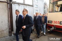 Алексей Текслер в трамвайном депо. Челябинск