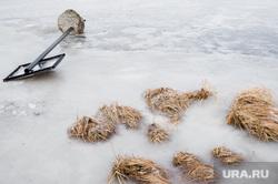 Виды Екатеринбурга, знак, заморозки, река зимой, река, упавший знак
