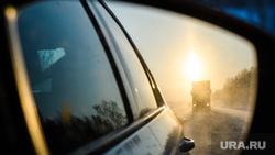 Виды Кунгура. Пермский край, путешествие, зеркало заднего вида, зимняя дорога, трасса
