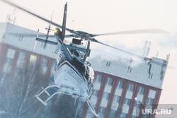Виды Екатеринбурга, вертолет, гражданская авиация, зима
