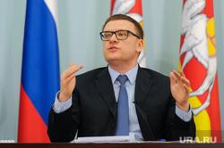 Пресс-конференция врио губернатора Алексея Текслера. Челябинск, портрет, жест рукой, текслер алексей