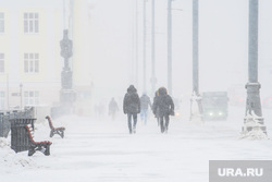 Виды города, снег. Екатеринбург, зима, метель, снегопад
