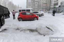 Дороги после снегопада. Челябинск, снег на дороге, снегопад