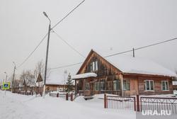 Поселок Аган. Нижневартовский район., деревянный дом, деревня, поселок, зима