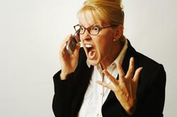 Клипарт depositphotos.com, разговор по телефону, крик, недовольство, ярость