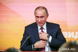 Ежегодная итоговая пресс-конференция президента РФ Владимира Путина. Москва, портрет, галстук, путин владимир