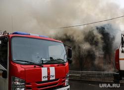 Пожар в историческом здании по ул. Дзержинского 34. Тюмень, дым, пожар, пожарный расчет