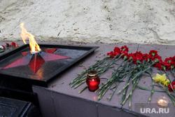 Свеча памяти Курган, гвоздики, цветы, вечный огонь