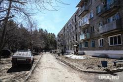 10 и 12 военные городки. Богандинка, военный городок, двор дома
