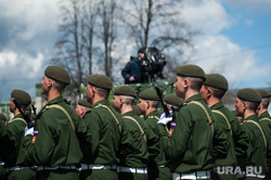 Военный парад, посвященный 73-й годовщине победы в Великой Отечественной войне. Свердловская область, Верхняя Пышма, военные, армия, солдаты, марш, парад победы, строй, военный парад
