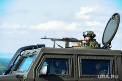 Антитеррористические учения «Мирная миссия - 2018». Челябинск, армия, пулемет, вооружение, оружие, война