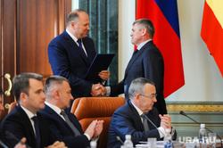 Совещание с полпредом президента Николаем Цукановым. Челябинск, рукопожатие, лукин олег, цуканов николай