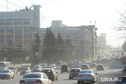 Пыль на дорогах города. Неблагоприятные метеоусловия. Челябинск, пыль в городе