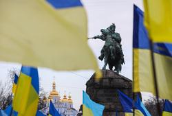 Официальный сайт президента Украины, флаги украины, памятник богдану хмельницкому
