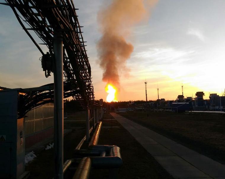 Магистральный газопровод вспыхнул наУрале