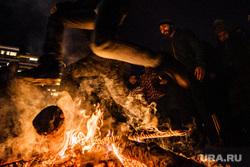 Празднование Терендеза в Церкви Святого Карапета. Екатеринбург, огонь, костер, прыжок через костер, празднование терендеза