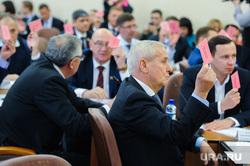 Заседание гордумы по отставке Евгения Тефтелева и назначению врио главы Владимира Елистратова. Челябинск, рыльских виталий, гордума, голосование