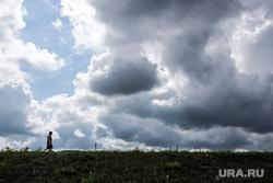 Виды Кургана, небо, гроза, тучи, облака