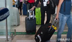 Прилет первой организованной группы болельщиков из Каира в Екатеринбург, аэропорт, туристы, зона таможенного контроля, чемоданы