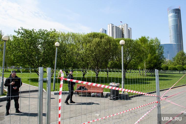 Сквер-на-Драме обнесли забором. Екатеринбург