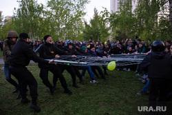 Протесты у сквера. Екатеринбург, беспорядки, сквер на драме, протест