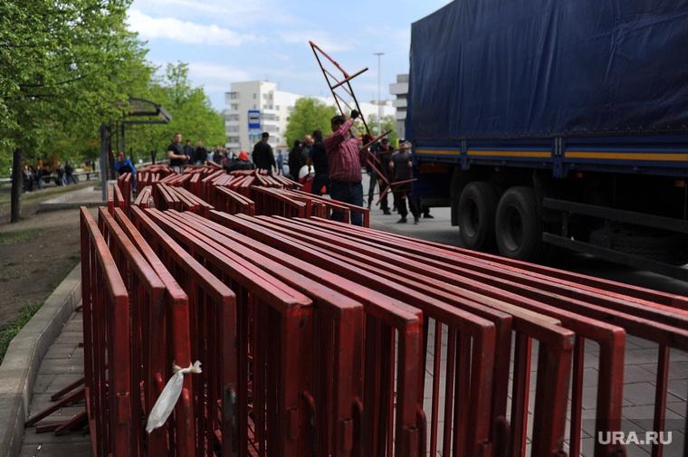 Ограждения в сквере около театра драмы. Екатеринбург