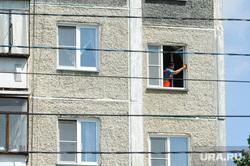 Закладка капсулы Кафедральный собор Рождества Христова Челябинск, многоэтажка, дом, стена, жилье, мытье окна