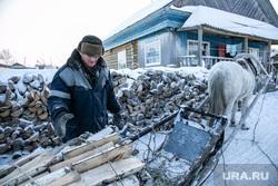 Заболотье Тюменская область., деревня, дрова