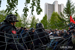 Второй день протестов против строительства храма Св. Екатерины в сквере около драмтеатра. Екатеринбург, росгвардия, протест, сквер на драме, храм на драме