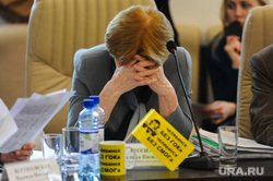 III заседание рабочей группы общественной палаты по строительству Томинского ГОК. Челябинск, усталость, князева светлана, закрыл лицо руками, без гок, без смог