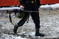 Торжественные мероприятия в честь 5-летия отряда ОМОНа. Сургут, пулеметчик, пулемет пкм