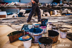 За кулисами театра оперы и балета. Екатеринбург, краски, изготовление декораций