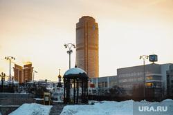 Виды Екатеринбурга, бц высоцкий, зима, город екатеринбург, виды города