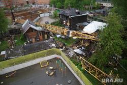 Падение строительного крана на улице Решетникова 17. Пермь, падение крана
