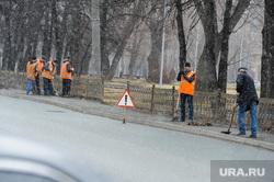 Выезд рабочей группы по дорогам города с Дмитрием Микуликом. Челябинск, дворники, субботник, дорожники