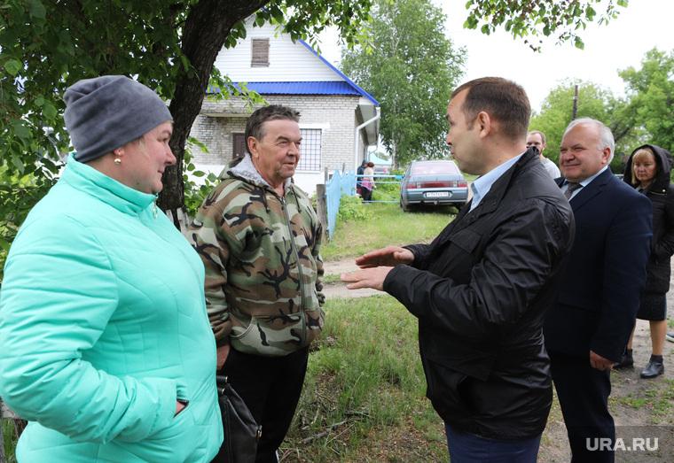 Визит врио губернатора Шумкова Вадима в Каргапольский район. Курган