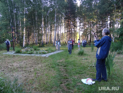 Посетители Поросенков Лог во время крестного хода, поросенков лог