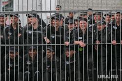 Футбольный матч между командами Курганской областной Думы и заключенными колонии №6. Иковка. Курганская обл, заключенные, зэки