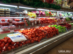Прилавки, Кристалл, Салехард, овощи, продуктовый магазин, помидоры, томаты, прилавок
