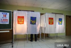 Повторные выборы губернатора Приморского края. Владивосток, кабинки для голосования, выборы