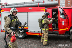 Учения МЧС по ликвидации пожара в ТЦ