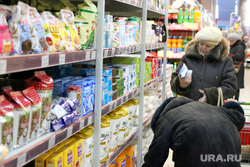 Ценники на продукты питания Курган, покупатель, продуктовый магазин, продукты питания, ценник