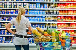 Клипарт depositphotos.com, продуктовый магазин, еда, покупки, супермаркет, продукты питания, тележка с продуктами, выбор продуктов