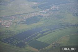 Крым., вид из самолета, поля
