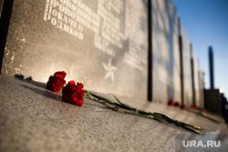 Мероприятия посвященные дню празднования Победы в ВОВ. Сургут , мемориал славы, цветы, две гвоздики