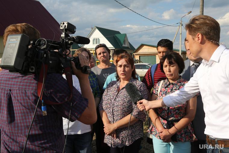 Жительница села Каскары Мария Кузнецова, пожаловавшаяся на отсутствие воды в поселке на XVII (семнадцатой) прямой линии c Владимиром Путиным. Тюмень