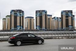 Виды города (развязки, новостройки). Тюмень, автомобиль, новостройки тюмени, правобережный мокрарайон