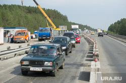 Ремонт автодорожного моста между Екатеринбургом и Первоуральском, пробка, дорожные работы, перекрытие дороги, ново московский тракт
