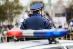 Клипарт depositphotos.com , мигалка, сотрудник полиции, полицейская сирена