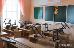 ОНФ в Введенке. Курган, школьная доска, класс, парты, школьный класс, каникулы, уборка класса